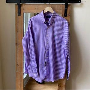 NWT Polo by Ralph Lauren Purple Stripe Button Down